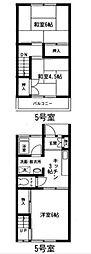 岩井コーポラスB[105号室]の間取り