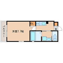 阪急神戸本線 塚口駅 徒歩5分の賃貸マンション 4階1Kの間取り
