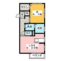 フォレスト見川E棟[2階]の間取り