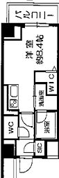 Osaka Metro長堀鶴見緑地線 西長堀駅 徒歩3分の賃貸マンション 7階ワンルームの間取り