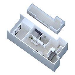 LFB Apartment 1階1LDKの間取り