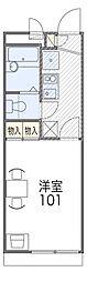 京都府京都市伏見区日野野色町の賃貸アパートの間取り