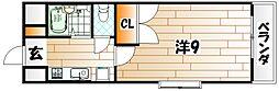 福岡県北九州市八幡西区千代ケ崎2丁目の賃貸マンションの間取り
