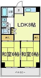 コーポ三明[2階]の間取り