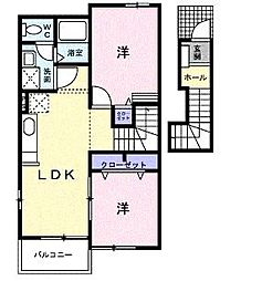ラブリー 弐番館[2階]の間取り