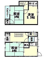 福岡県糟屋郡志免町志免3丁目の賃貸アパートの間取り