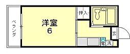 京都府京都市東山区東橘町の賃貸マンションの間取り