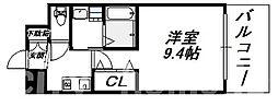 大阪府大阪市住吉区我孫子東1丁目の賃貸マンションの間取り