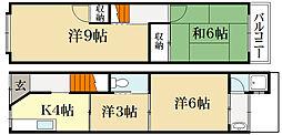 [一戸建] 京都府京都市左京区下鴨松ノ木町 の賃貸【/】の間取り