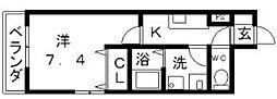 フォンティーヌ加賀屋[2階]の間取り
