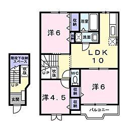 サファイアンエレガンスA[2階]の間取り