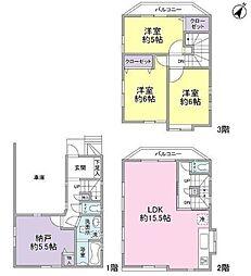 [一戸建] 神奈川県横浜市南区中村町1丁目 の賃貸【/】の間取り