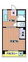 メゾン武蔵[2階]の間取り