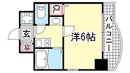 エステムコート神戸・三宮山手センティール[306号室]の間取り
