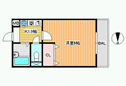 レオパレスWITH−A[2階]の間取り
