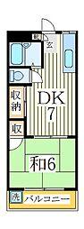 サンパークM[2階]の間取り