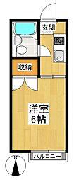 東京都狛江市岩戸南3丁目の賃貸アパートの間取り