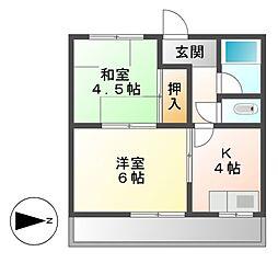 ウチデマンション[4階]の間取り