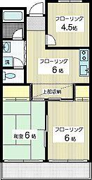 向ヶ丘パークハイツ[3階]の間取り