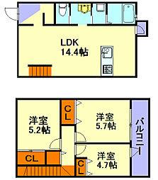 [一戸建] 福岡県福岡市早良区干隈3丁目 の賃貸【/】の間取り