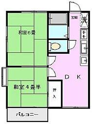 東寺尾パレスワン[203号室]の間取り