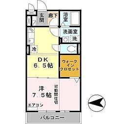 大阪府大阪市平野区加美東4丁目の賃貸アパートの間取り