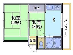 十三マンション[1階]の間取り