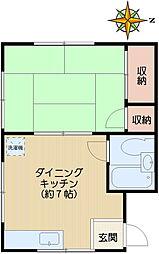 長井ハイツ[203号室]の間取り