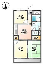 メゾン和幸[2階]の間取り