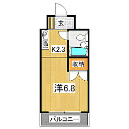 プルーリオン竹鼻[3階]の間取り