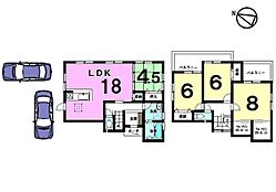 LDKは余裕の18帖。全居室に収納スペースも確保しました。