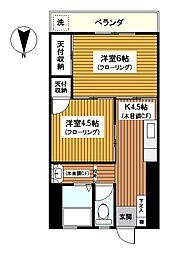 神奈川県横浜市西区中央1丁目の賃貸マンションの間取り