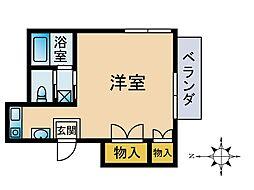津田山ハイツ[302号室]の間取り