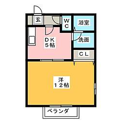 タワーコート[2階]の間取り