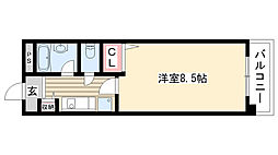 ハイネス修芳[303号室]の間取り