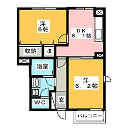 BETTER R MIYOSHI[2階]の間取り
