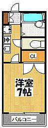 大阪府大阪市鶴見区浜3丁目の賃貸アパートの間取り