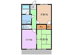 静岡県裾野市水窪の賃貸アパートの間取り