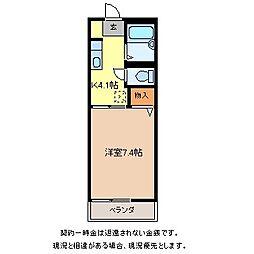 ベルメゾンさしでII[2階]の間取り