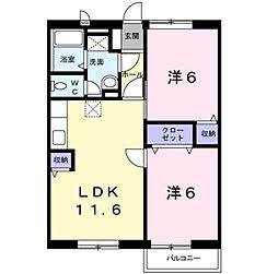 プランタンコ−ト[1階]の間取り