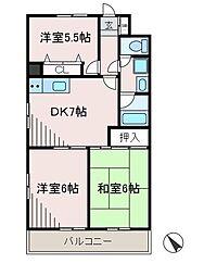 サニーフラットK[4階]の間取り