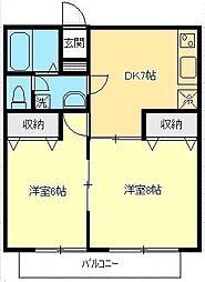 ロイヤルパークハウス大泉[2階]の間取り