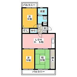 メゾン・ド・エソールII[3階]の間取り