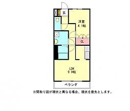 愛知県一宮市大和町妙興寺字出町前の賃貸アパートの間取り