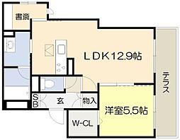 仮称・吹田市シャーメゾン岸部中3丁目PJ 3階1SLDKの間取り