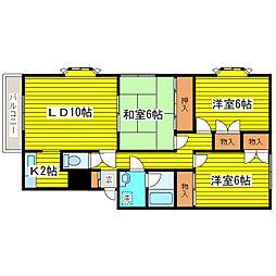 北海道札幌市東区北二十四条東17丁目の賃貸アパートの間取り