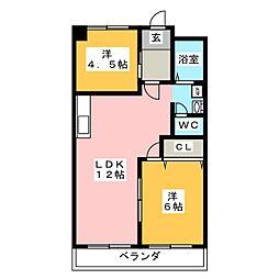 コトブキ第1ビル[3階]の間取り
