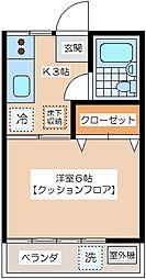 ハイツミヤタ[2階]の間取り