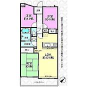 3LDKのリノベマンション。対面式キッチン。和室ありです