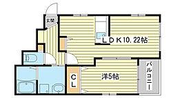 ボンドアベニュー[1階]の間取り